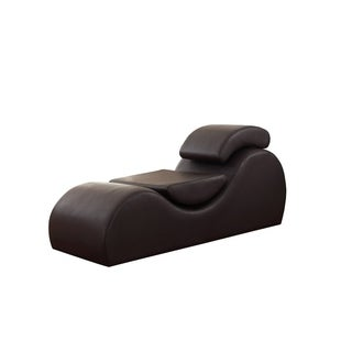 Shop Faux Leather Yoga Amp Stretch Relax Chaise Free