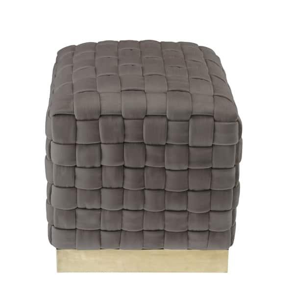 Tremendous Shop Nicole Miller Annamay Velvet Ottoman Hand Woven Uwap Interior Chair Design Uwaporg