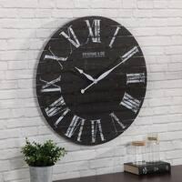 "FirsTime & Co.® Midnight Shiplap Wall Clock - 29"""