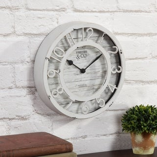 FirsTime & Co.® Antique Cream Wall Clock