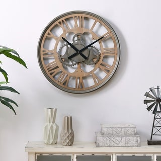 """FirsTime & Co.® Antique Mills Gears Wall Clock - 24"""""""