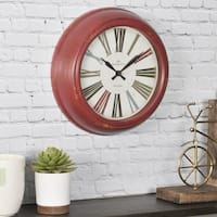 FirsTime & Co.® Red Relic Wall Clock - 10""
