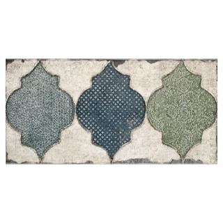 SomerTile Crux Fenice Blue/Green/White Ceramic 5.875 x 11.875-inch Wall Tile (Set of 22/11.17 square feet)