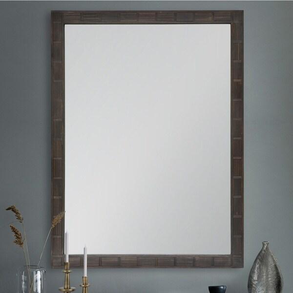 Strick & Bolton Grey Firwood Mirror