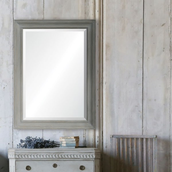 Strick & Bolton Grey Rectangle-framed Mirror