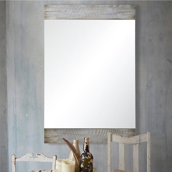 Strick & Bolton White-wash Wood Mirror