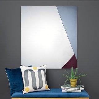 Porch & Den Baseline Blue and Burgundy Square Mirror