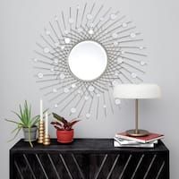 Strick & Bolton Framed Silver-leaf Mirror