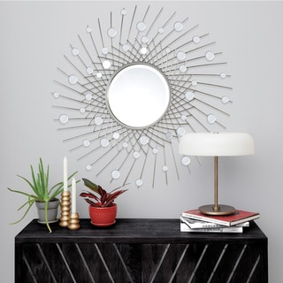 Strick & Bolton Framed Silver-leaf Mirror