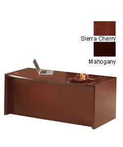 Mayline Corsica Bow Front Desk