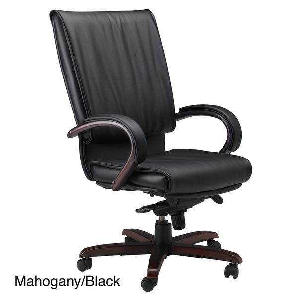 Mayline President Wood and Leather Chair