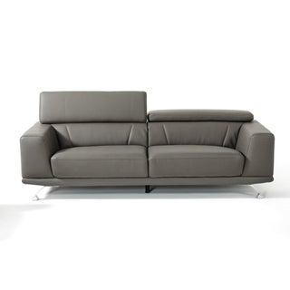 Divani Casa Brustle Modern Dark Grey Eco-Leather Sofa