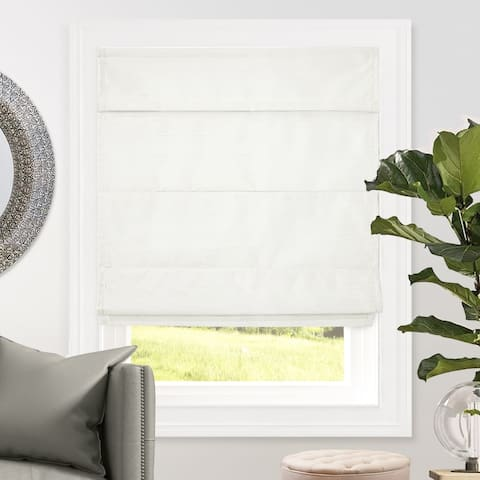 Chicology Cordless Roman Shades, Blackout Lining Cascade Window Blind, Lux Collection (Room Darkening)