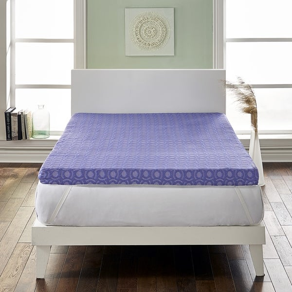 Loftworks 4 inch Supreme Memory Foam Mattress Topper with Medium Firm Support & 5 Zone Design. Opens flyout.