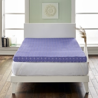 Loftworks 4 inch Supreme Memory Foam Mattress Topper with Medium Firm Support & 5 Zone Design