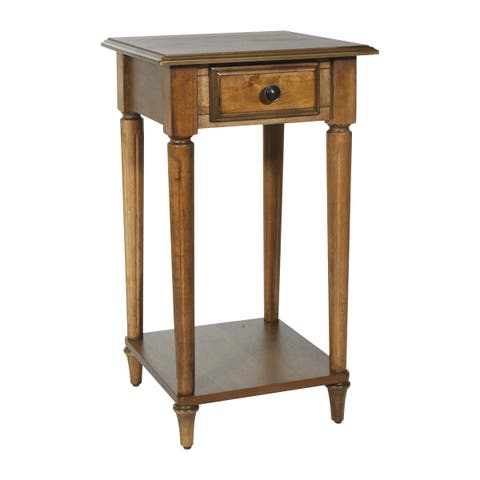 OSP Home Furnishings Bandon Ginger Brown Finish Wood/Veneer Side Table