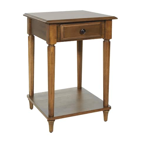 OSP Home Furnishings Bandon Ginger Brown Finish Wood End Table