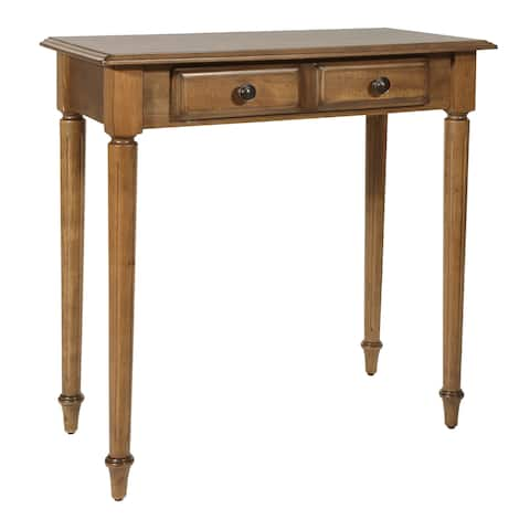 OSP Home Furnishings Bandon Ginger Brown Finish Wood Foyer Table