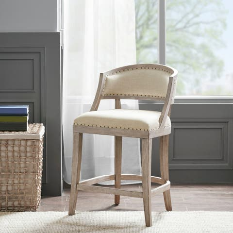 """Madison Park Wheatley Natural Counter Stool - 21""""W x 24.5""""D x 37.25""""H"""