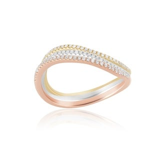 Link to 14KT Gold and Diamond Curved Stack Fashion Ring Similar Items in Rings