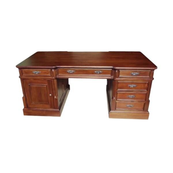 Shop Solid Kiln Dried Mahogany Small Single Sided Office Desk