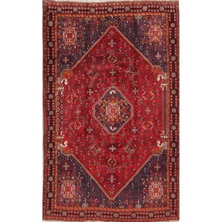 "Abadeh Tribal Geometric Hand-Knotted Wool Persian Oriental Area Rug - 8'5"" x 5'3"""