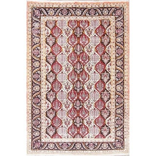 "Bakhtiari All-Over Geometric Hand-Knotted Wool Persian Area Rug - 9'9"" x 6'7"""