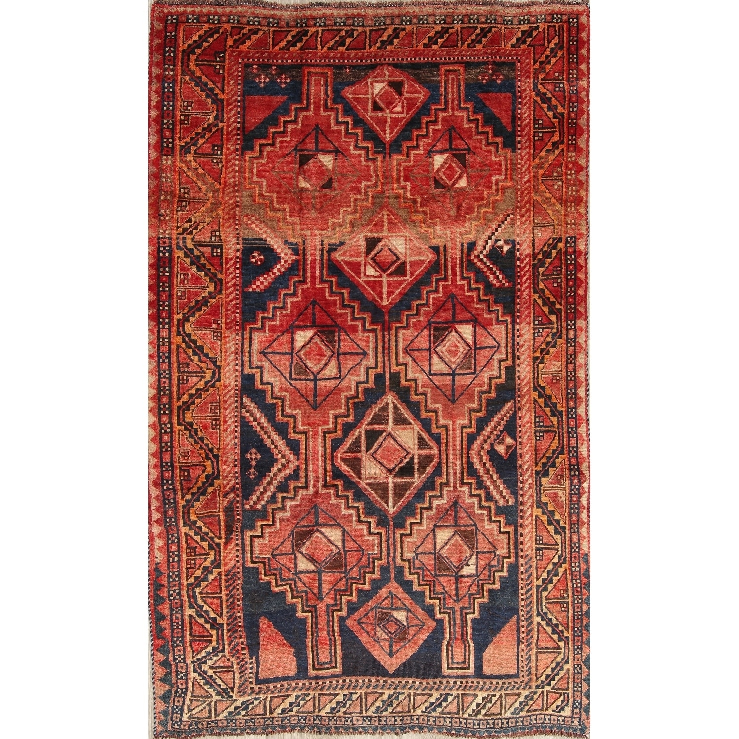 Antique Lori Geometric Hand Knotted Wool Persian Oriental Area Rug 8 10 X 5 4 On Sale Overstock 27700601