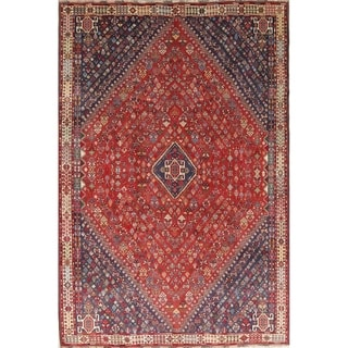 "Abadeh Tribal Geometric Hand-Knotted Wool Persian Oriental Area Rug - 8'9"" x 5'10"""