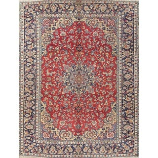 """Najafabad Floral Medallion Traditional Hand-Knotted Wool Persian Rug - 12'9"""" x 9'7"""""""