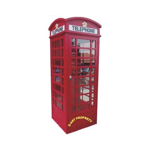 Handcrafted Solid Kiln Dried Mahogany Wood Big London Telephone Booth