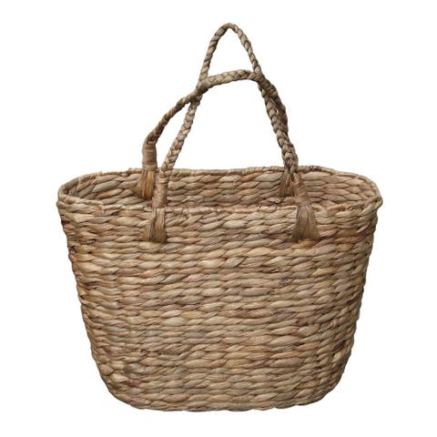Handmade Wicker Magazine Tote Bag with Stapes