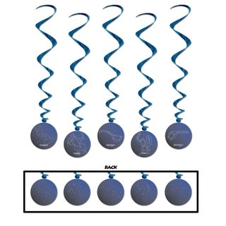 """Beistle 3' 6"""" Constellation Hanging Whirls Party Decoration - 6 Pack (5/Pkg)"""