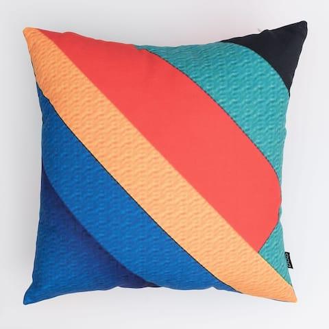 Colorful Diagonal Stripes Modern Pillow