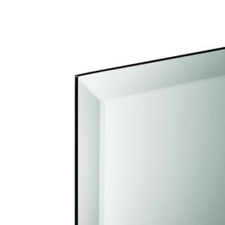Frameless Beveled Rectangle Wall Mirror - Silver