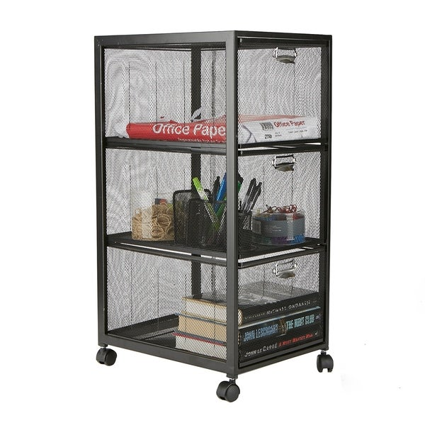 Shop Mind Reader 3 Tiered Drawers Cart Rolling Cart