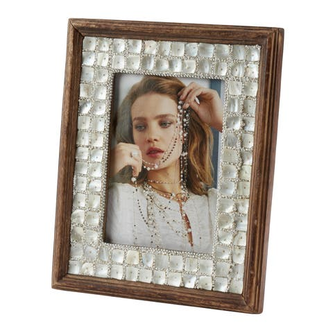Saro Lifestyle Mother of Pearl Wooden Photo Frame