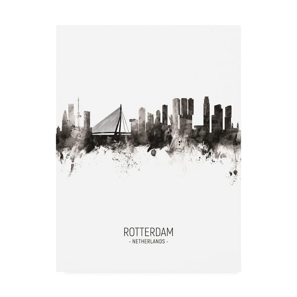 Shop Black Friday Deals On Michael Tompsett Rotterdam The Netherlands Skyline Portrait Ii Canvas Art Overstock 27701559