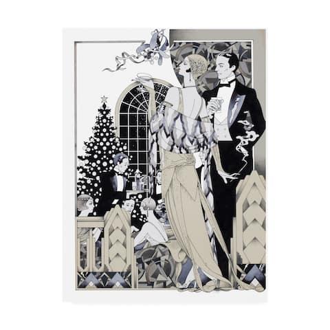 David Chestnutt 'Deco Christmas' Canvas Art