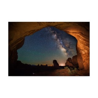 Darren White Photography 'Double Arch Milky Way Views' Canvas Art