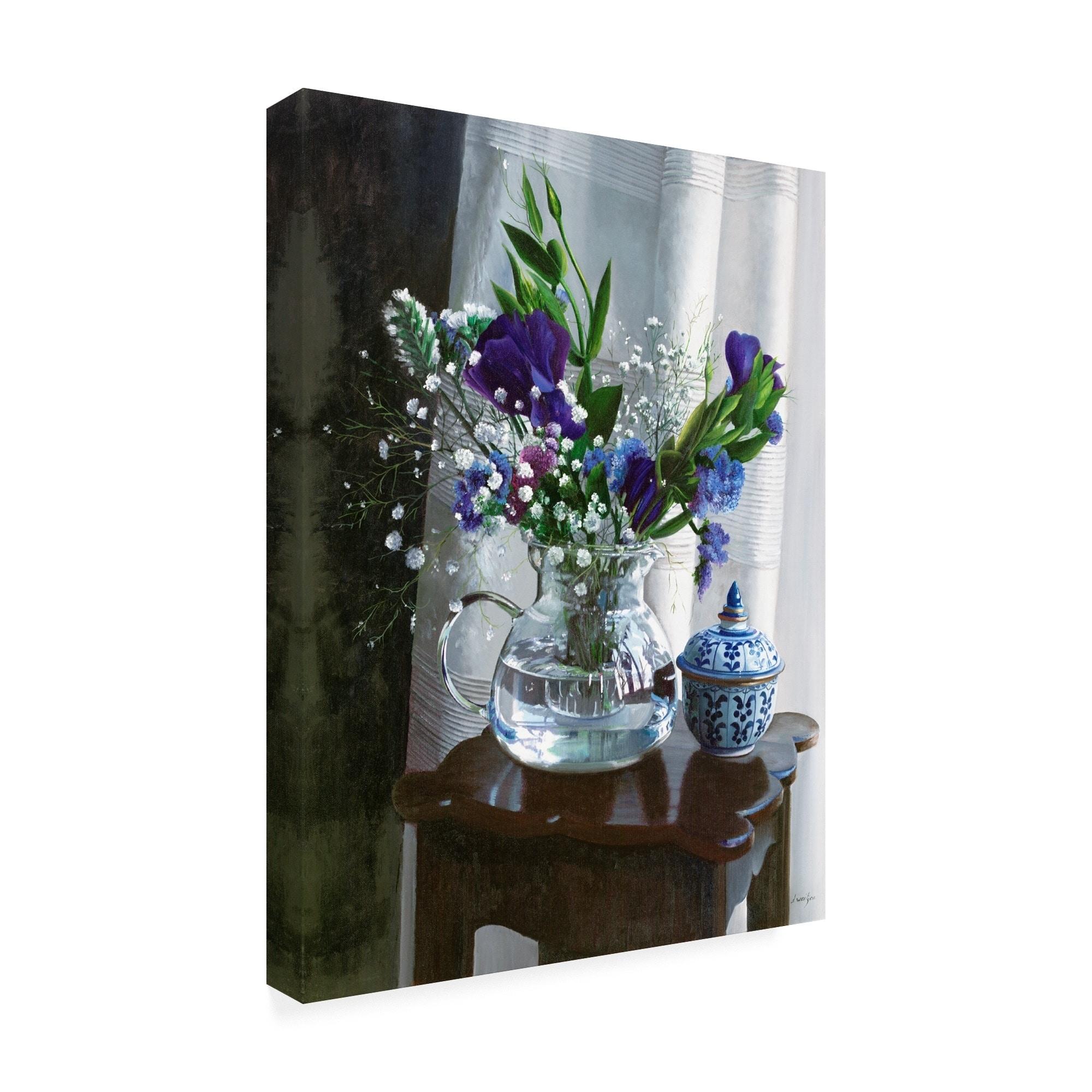 Fiori Blu.Shop Danka Weitzen Fiori Blu E Sgabello Canvas Art On Sale