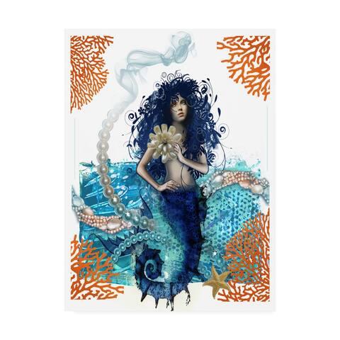 Darlene McElroy 'Mermaid Floral' Canvas Art