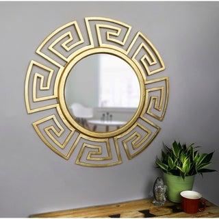 Winston Gold 34-inch Diameter Round Wall Mirror
