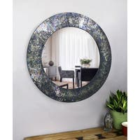 Arabella Mixed Glass Mosaic 30-inch Diameter Round Wall Mirror