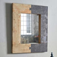 "Dante Natural Wood 32-inch Height Rectangular Wall Mirror - 32"" x 27"""
