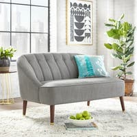 angelo:HOME Edith Grey Fabric Upholstered Loveseat
