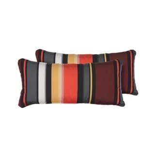 Coral Outdoor Throw Pillows Rectangle Set of 2