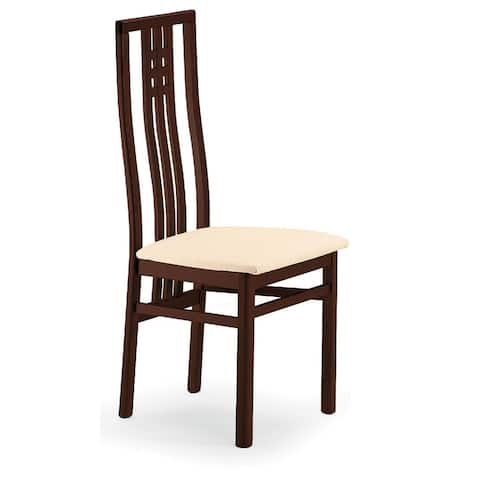 Luca Home Wenge Contemporary Style Dining Chair (2pk)