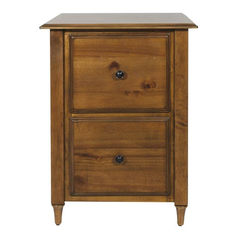 Bandon File Cabinet in Ginger Brown Finish