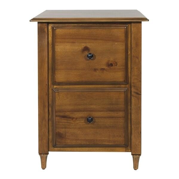 OSP Home Furnishings Bandon Brown Wood 2-drawer File Cabinet